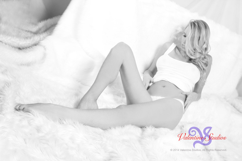 Looking beautiful in her boudoir photo shoot at Valentine Studios in San Diego, CA.