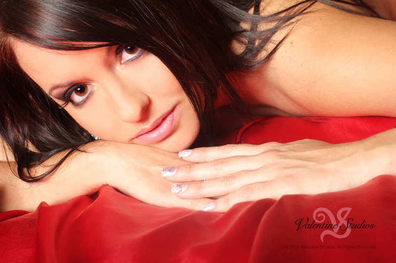 Give your best loving looks at your boudoir photo shoot at Valentine Studios.