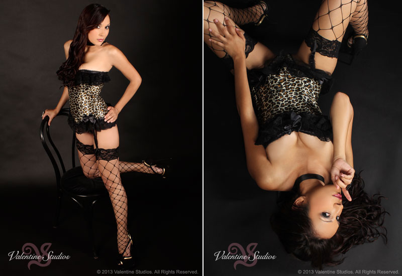 Be sultry and sexy in your boudoir photo shoot at Valentine Studios.
