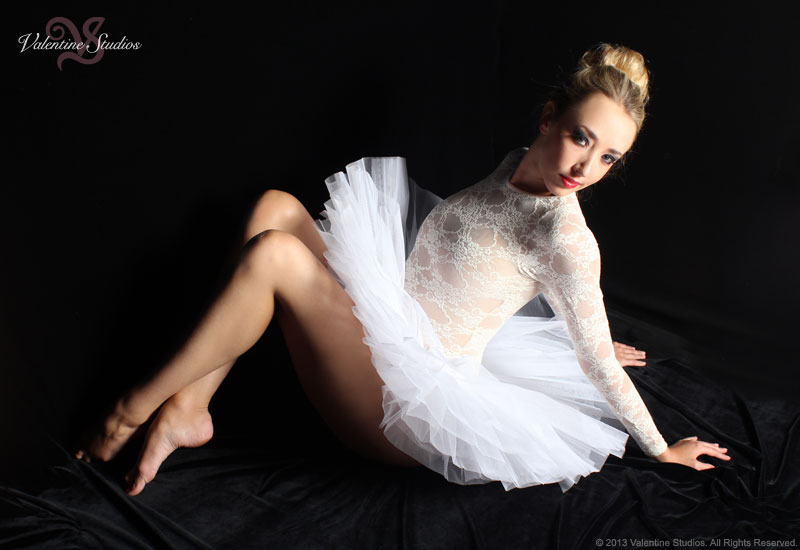 Elegance and beautiful dance tutu for your Valentine Studios boudoir photo shoot.
