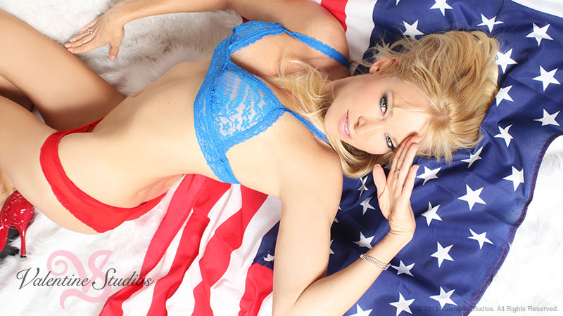 Valentine Studios proudly honors our San Diego military community with your very own sexy patriot boudoir photo shoot at our San Diego studio.
