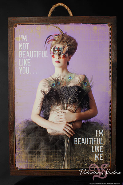 Boudoir photography on a Metal Art Print that is customized anyway you like.