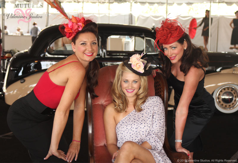 Haute As Ever 1940's theme fashion show at the Del Mar Race Track summer 2013.