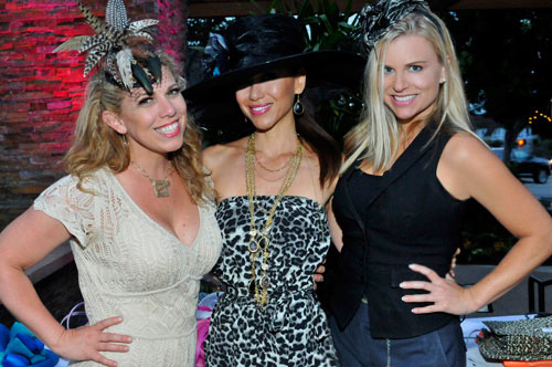 Photographers Meg Pasetta & Jody Pinchin are accompanied by MUA Liz Eddy, at 'Haute To Trot Opening Day Fashion Show'